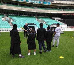 Girls Play Cricket at the Famous Oval