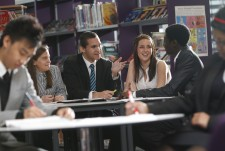 Sixth Form Students in LRC