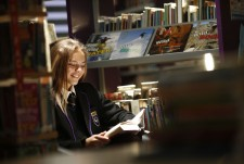 Student in LRC