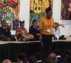 Author Abimbola Akinmade Inspires HGA Children