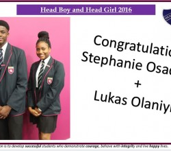Head Boy & Girl the votes are in