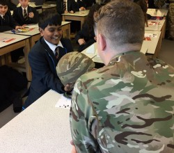 Army Stem visit Yr7 Science Lessons