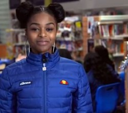 Nadia Rose pays a visit her old school !