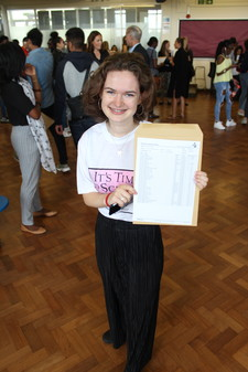 Student showing gcse results1
