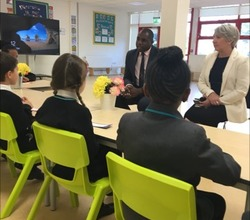 David Lammy MP visits Pupils at Harris Academy Tottenham