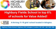 HFS in top 6% of Schools for 'Value Added'