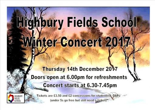 Winter Concert Poster 2017