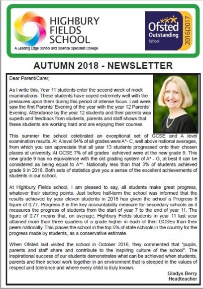 Autumn Newsletter front