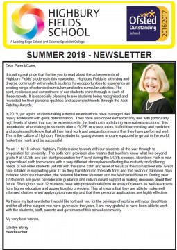 Summer Newsletter 2019