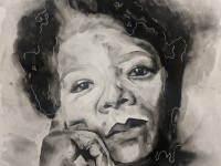 Year 12 Art Work - Portraits of Inspirational Wome...
