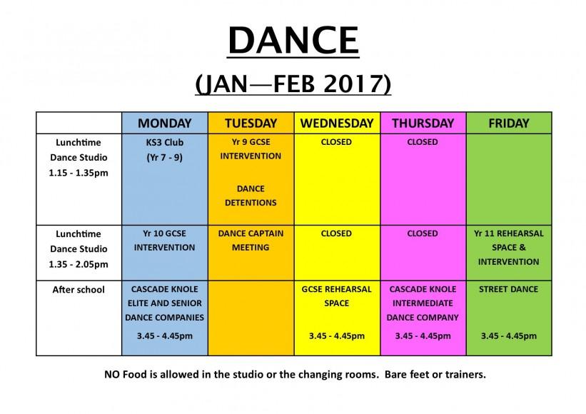 Dance Clubs Jan - Feb 2017