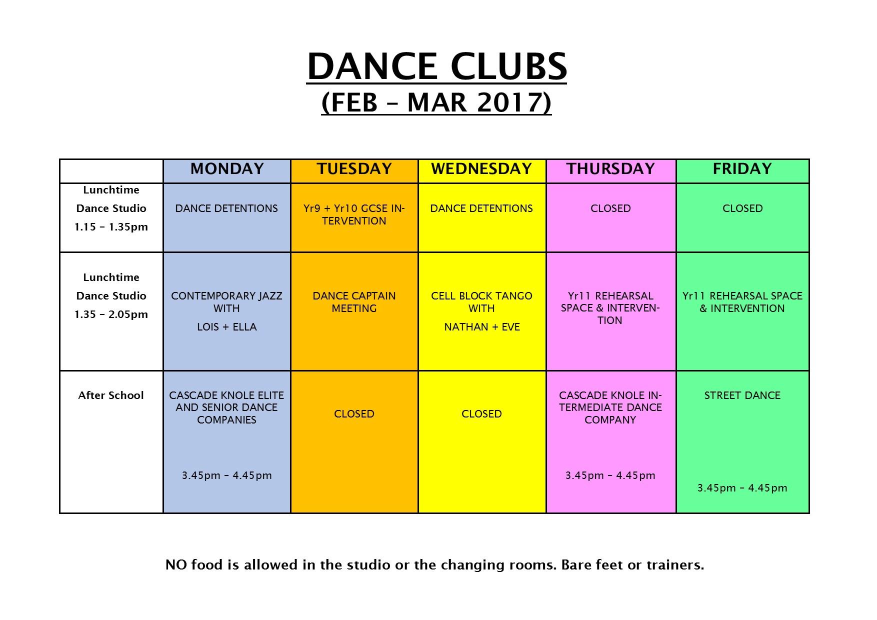 Dance Club Feb - Mar 2017