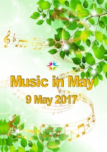 Front cover for Music in May programme extended