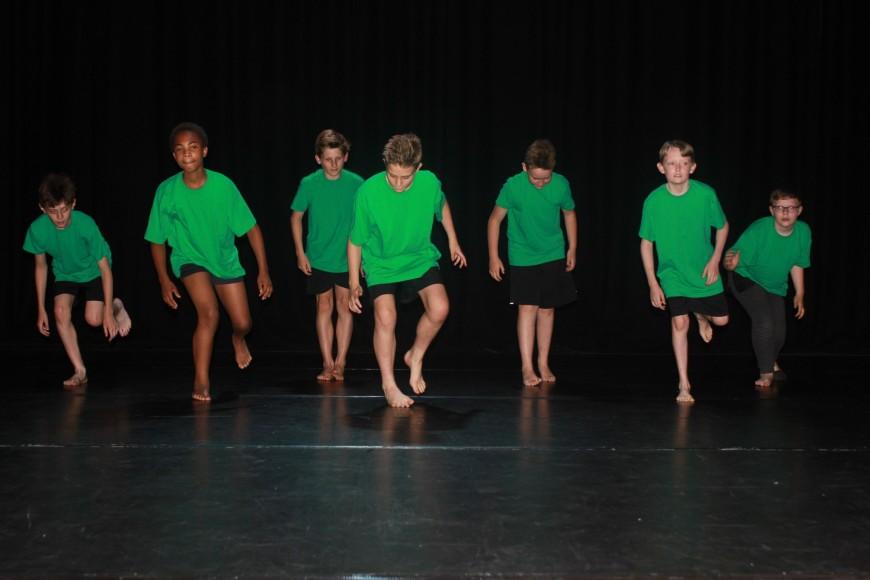 2017 Dance boys group image iin green tops