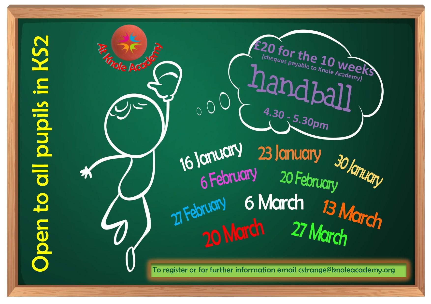 Poster for handball Term 3 & 4