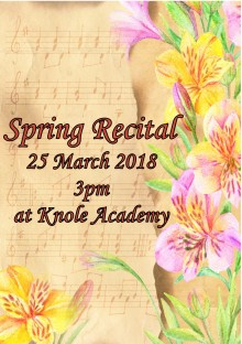 Spring Recital front cover