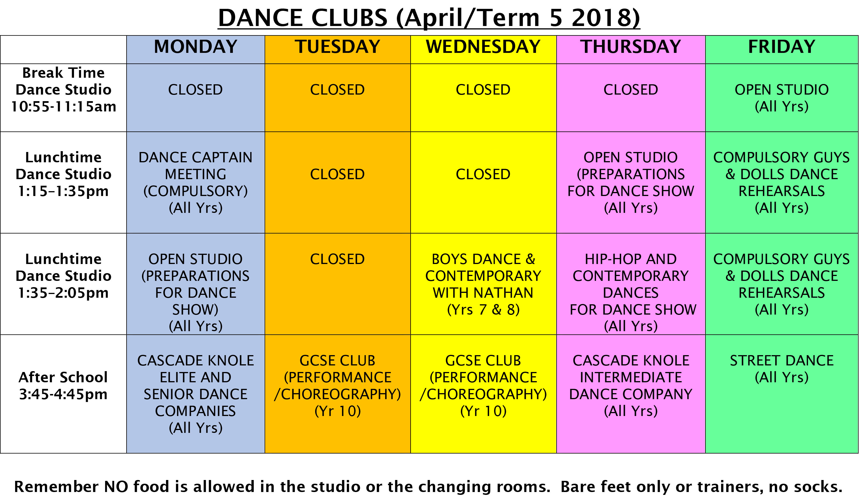 Dance Clubs Term 5 18