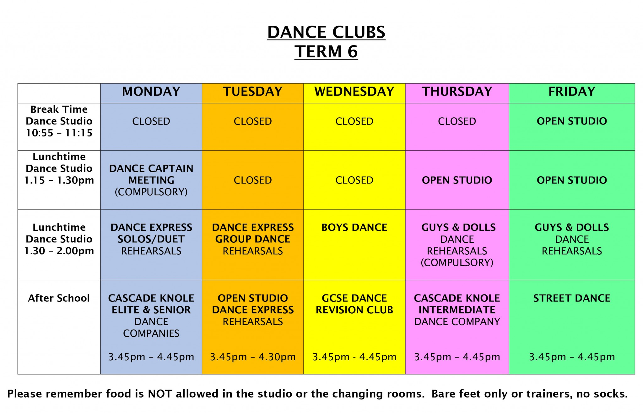 DANCE CLUBS Term 6 4