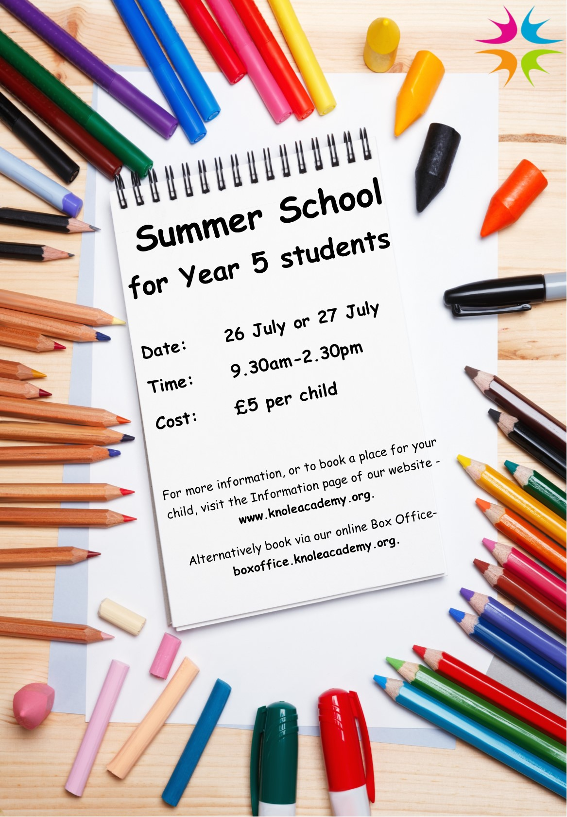 Summer School for Year 5s poster image