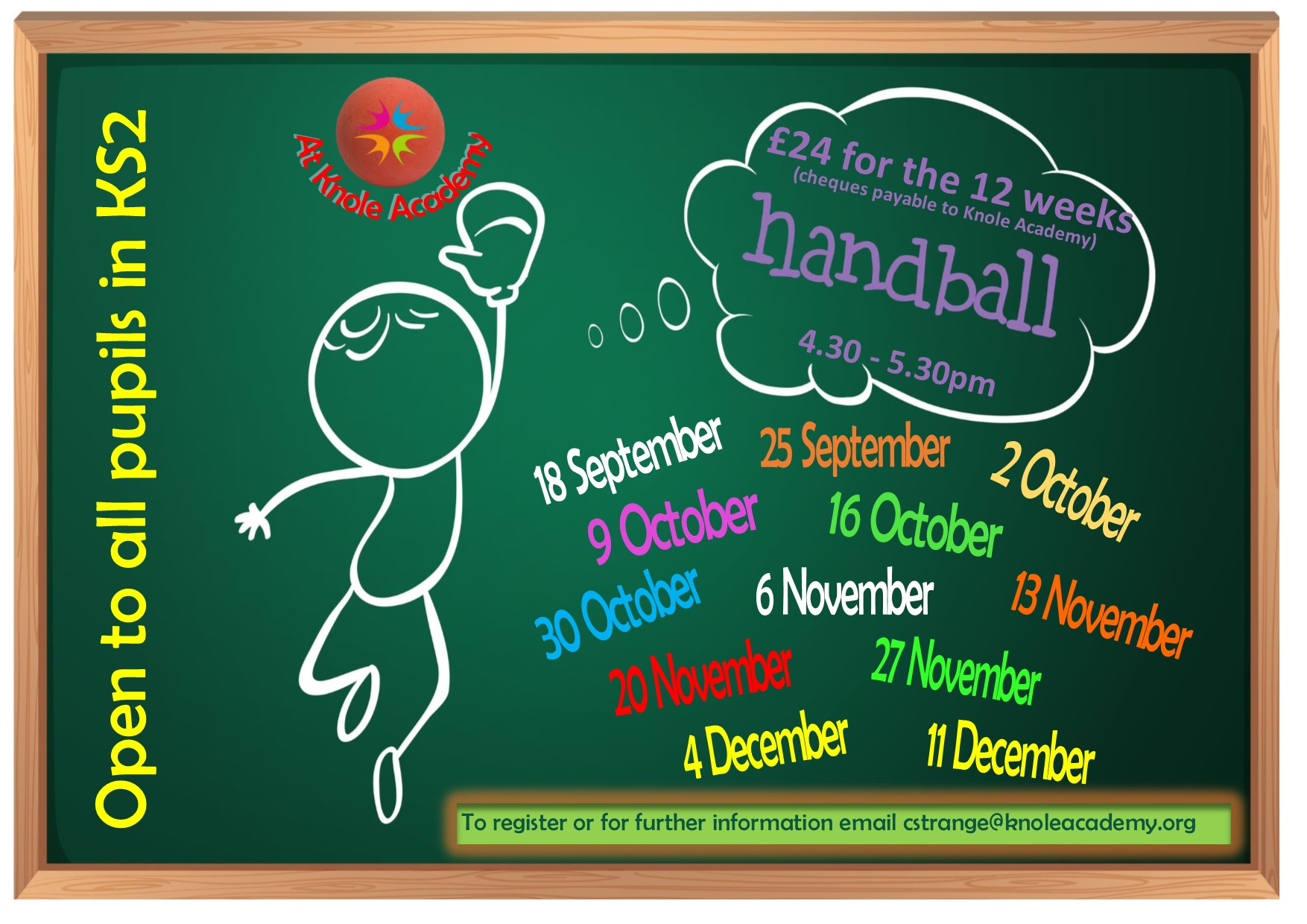 Poster for handball Term 1 & 2 2018-2019
