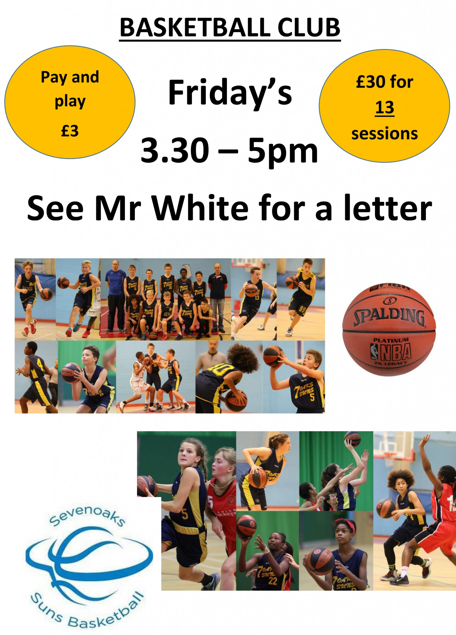 Basketball Club Poster September 2018