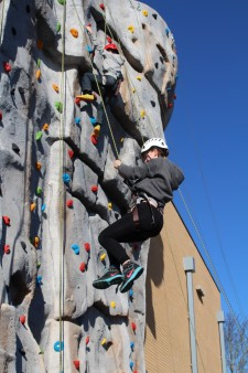 Climbing wall - girl and boy