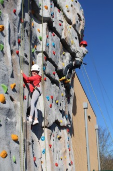 Climbing wall - girl and boy 2