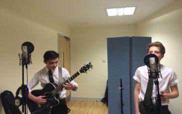 Music GCSE recording day in the studio