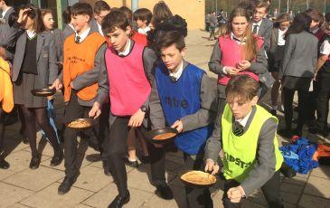 Knole Academy Pancake Race