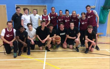 Staff v Students Red Nose Day Basketball Match