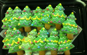 Beautiful cakes served at Knole Academy's Christmas lunch