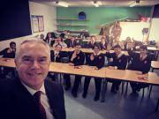 Huw Edwards selfie