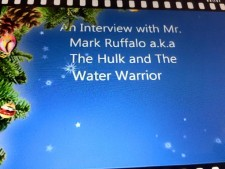 An interview with Mr  Mark Ruffalo a k a The Hulk and Water Warrior