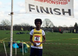 Ahmed wins Silver medal at U15 Cross Country Championships