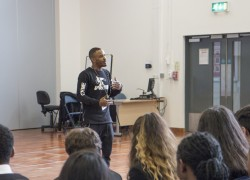 Chris Preddie OBE inspires Park View students