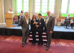 Students awarded L C Laws Trophy for Eden Project