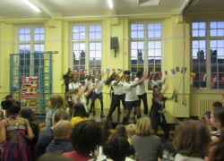 Park View dancers perform at Chestnuts Primary School