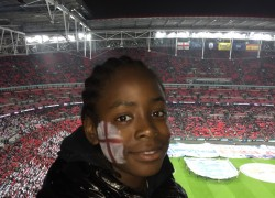 Students enjoy England v Spain game at Wembley Stadium