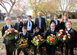 Wreath making for Remembrance Day