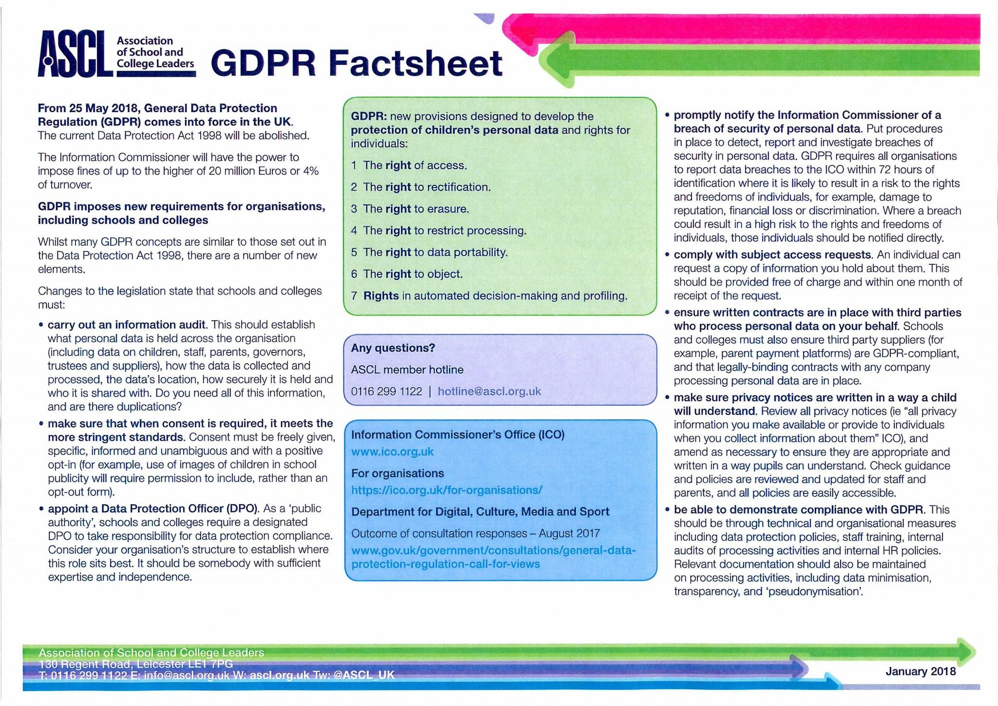 GDPR factsheet