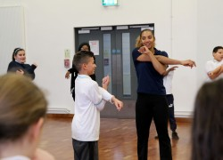 Athletics workshop with Ashleigh Nelson