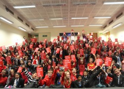Park View Shows Racism the Red Card