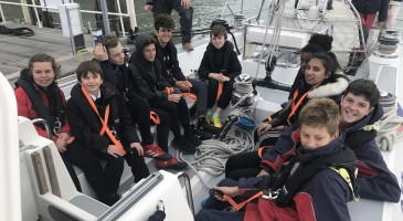 Students go behind the scenes of the British America's Cup Challenger