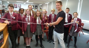 Former TPS Student Opens The Chris Phillips Library