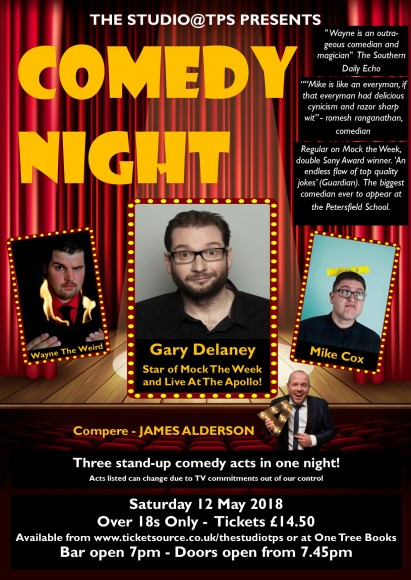Comedy Night May 2018 Poster