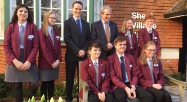 TPS students meet the new Education Secretary