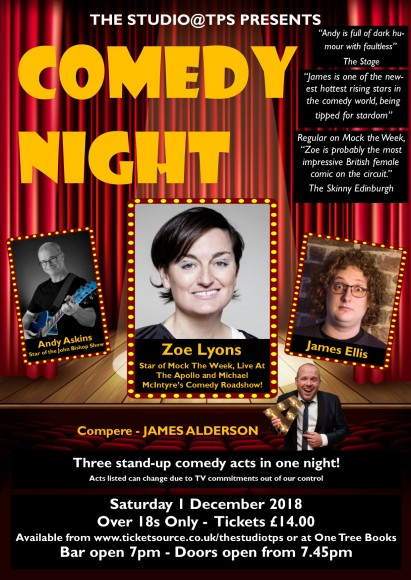 Comedy Night December 2018 Poster Final