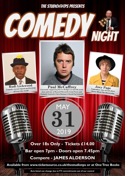 Comedy Night Poster May 2019