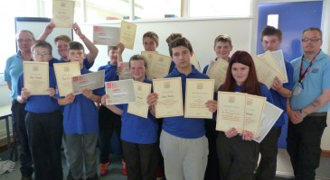 STUDENTS GRADUATE FROM THEIR CVQO COURSE