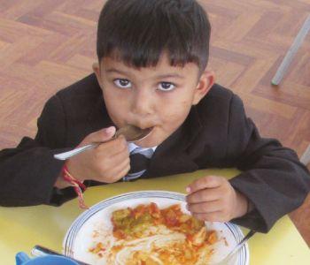 Reception Children - First Lunch